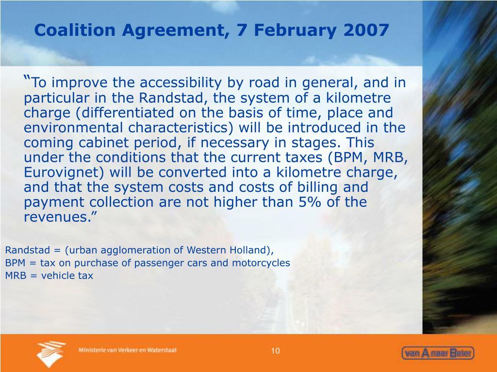 Coalition Agreement, 7 February 2007