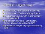 methods i project focus