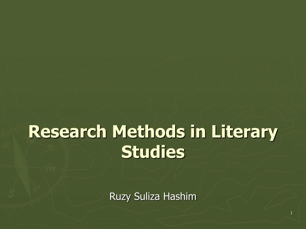 research methods in literary studies l.