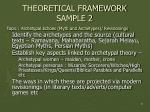 theoretical framework sample 2