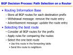 bgp decision process path selection on a router