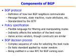components of bgp