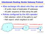 interdomain routing border gateway protocol