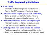 traffic engineering guidelines