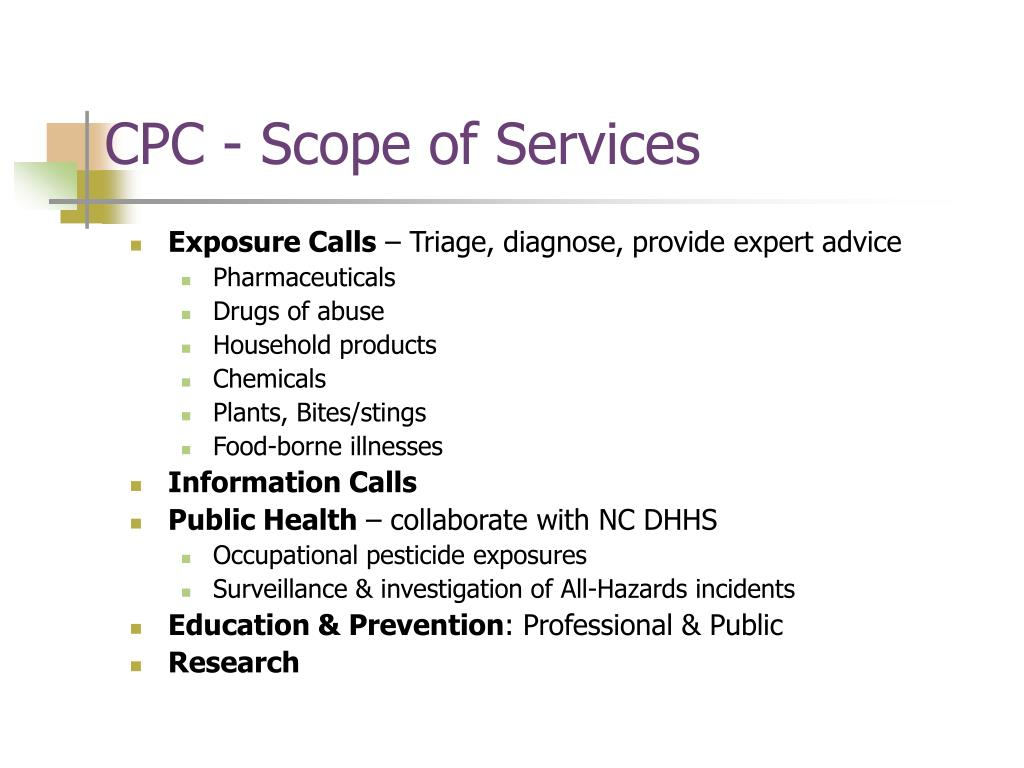 CPC - Scope of Services