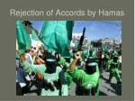rejection of accords by hamas