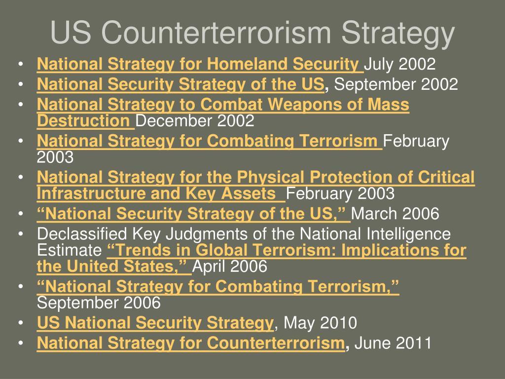 us counterterrorism strategy l.