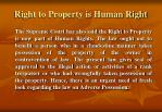 right to property is human right