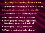 key steps for strategy formulation11