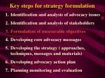 key steps for strategy formulation17