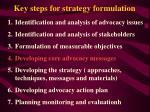 key steps for strategy formulation19