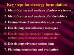 key steps for strategy formulation24