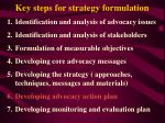 key steps for strategy formulation33