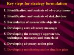 key steps for strategy formulation37