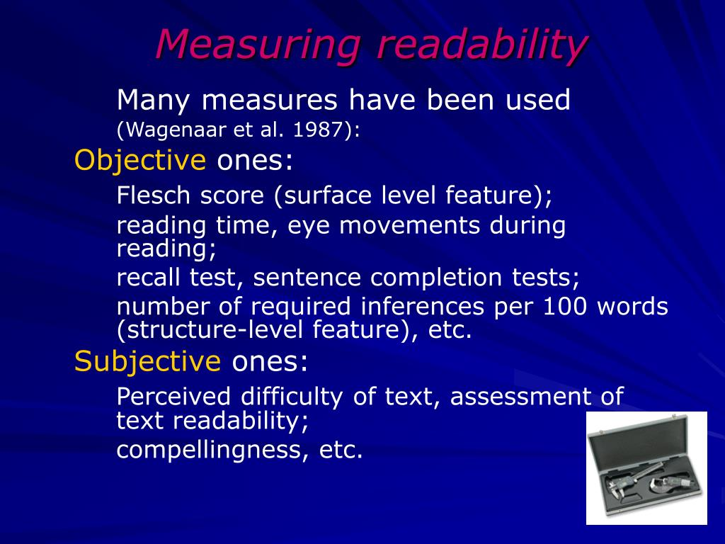 Measuring readability