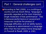 part 1 general challenges cont5