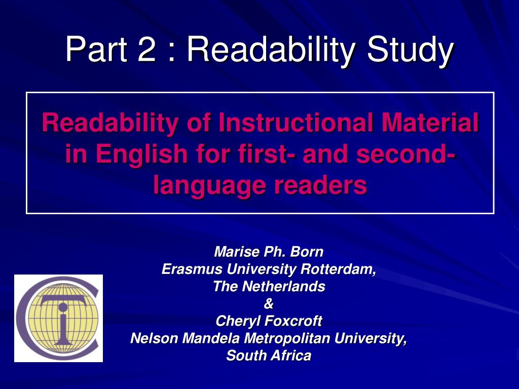 Part 2 : Readability Study