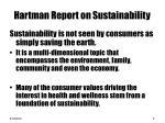 hartman report on sustainability