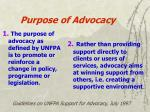 purpose of advocacy