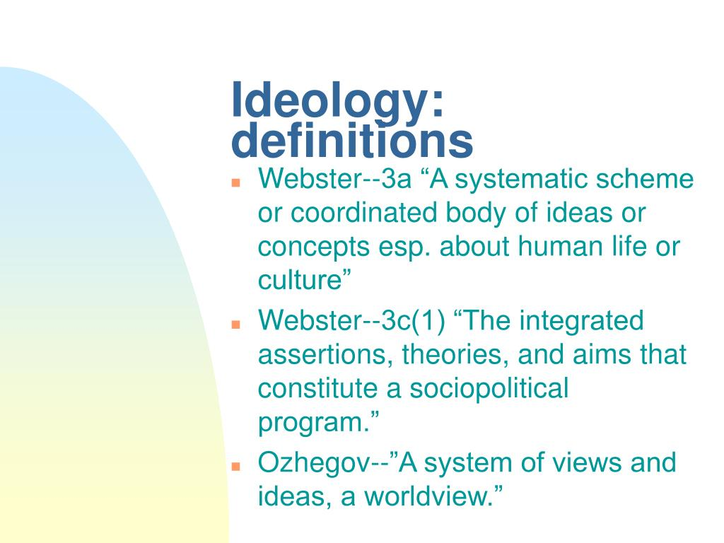 ideology definitions l.