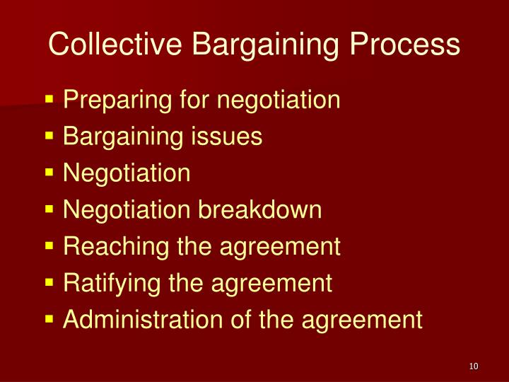 Ppt Collective Bargaining Powerpoint Presentation Id169677