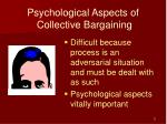 psychological aspects of collective bargaining