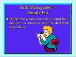 risk management simply put