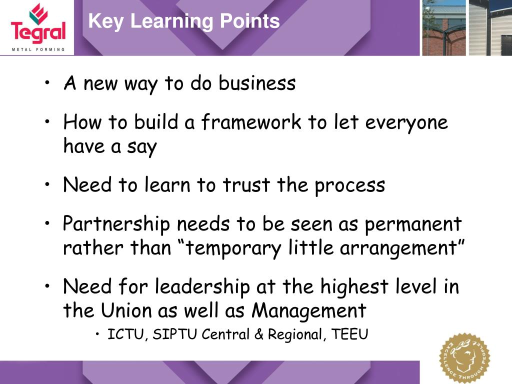 Key Learning Points