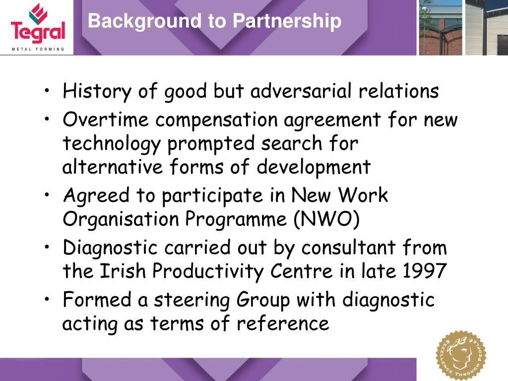 Background to Partnership