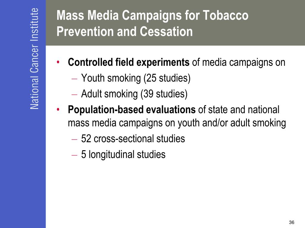 Mass Media Campaigns for Tobacco Prevention and Cessation
