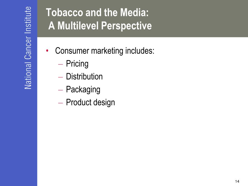 Tobacco and the Media: