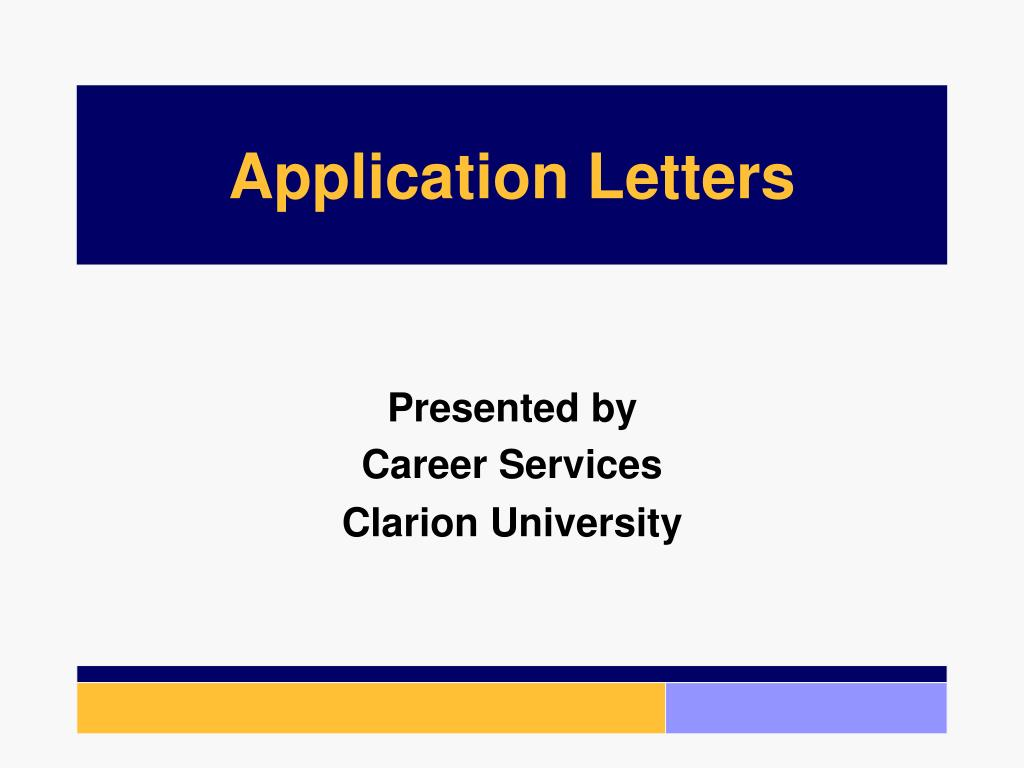 application letters l.