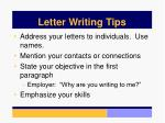 letter writing tips
