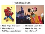 hybrid culture