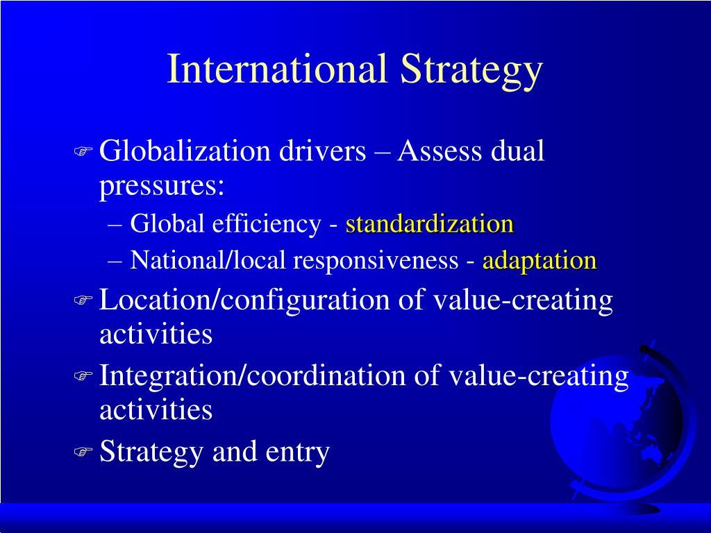 international strategy l.