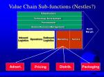value chain sub functions nestles