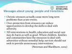 messages about young people and transitions