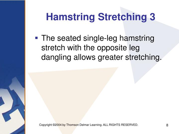 Hamstring Stretching 3