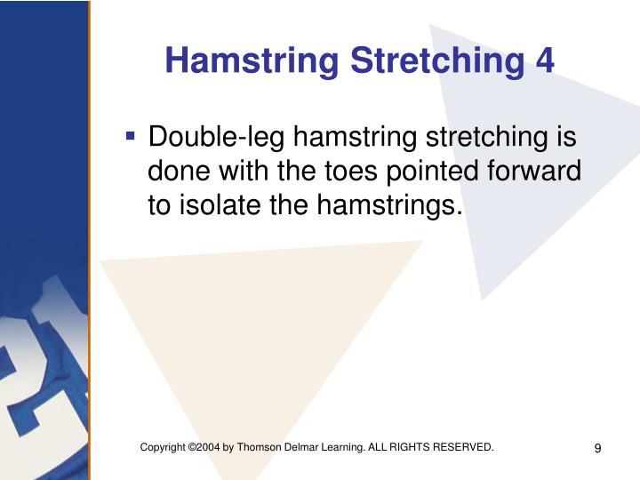 Hamstring Stretching 4