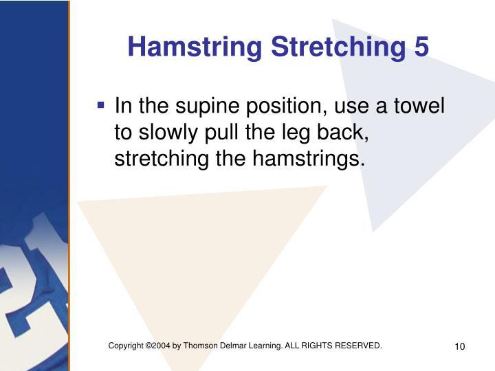 Hamstring Stretching 5