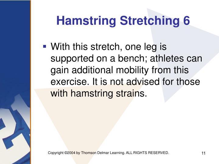 Hamstring Stretching 6