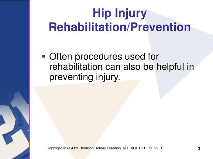 Hip injury rehabilitation prevention