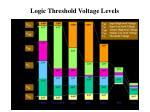 logic threshold voltage levels