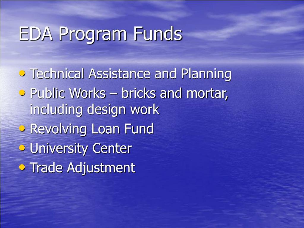 EDA Program Funds