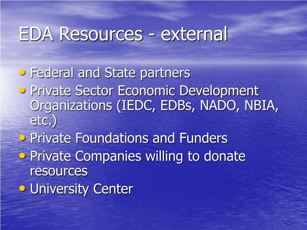 EDA Resources - external