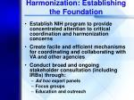 harmonization establishing the foundation