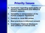 priority issues11