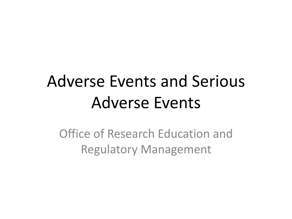 adverse events and serious adverse events l.