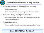 missile defense operations in iraqi freedom