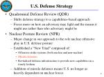u s defense strategy